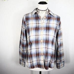 Pendleton Fitted Plaid Button Down Shirt Medium